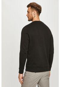 Czarna bluza nierozpinana Hugo casualowa, bez kaptura, gładkie, na co dzień