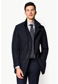 Niebieska kurtka Lancerto z klasycznym kołnierzykiem, na jesień, klasyczna