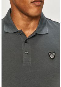 Szara koszulka z długim rękawem EA7 Emporio Armani casualowa, na co dzień