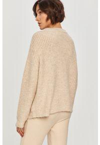 Beżowy sweter Answear Lab wakacyjny, z długim rękawem, długi, na co dzień
