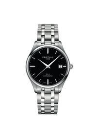 Czarny zegarek CERTINA elegancki
