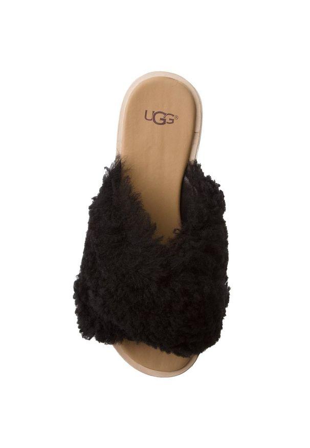 Czarne klapki Ugg