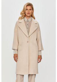 Beżowy płaszcz MAX&Co. casualowy, bez kaptura, na co dzień