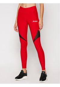 Czerwone legginsy Guess