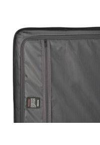 Czerwona walizka Wittchen klasyczna, w kolorowe wzory