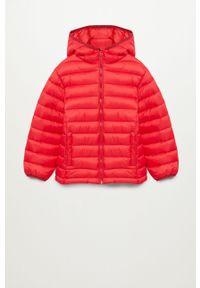Czerwona kurtka Mango Kids na co dzień, z kapturem, casualowa