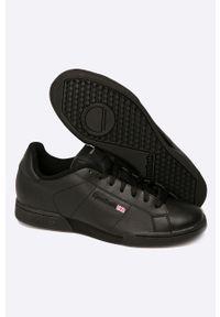 Czarne sneakersy Reebok Classic z okrągłym noskiem, z cholewką, Reebok Classic