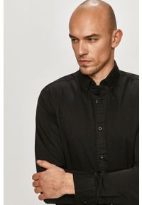 Czarna koszula Calvin Klein casualowa, button down