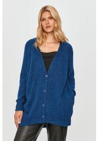 Niebieski sweter rozpinany MAX&Co. z długim rękawem, długi