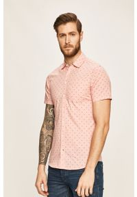Różowa koszula Blend na co dzień, krótka