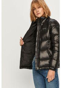 Czarna kurtka Calvin Klein casualowa, bez kaptura, na co dzień