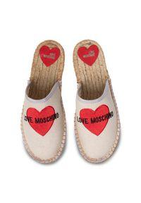 Beżowe klapki Love Moschino