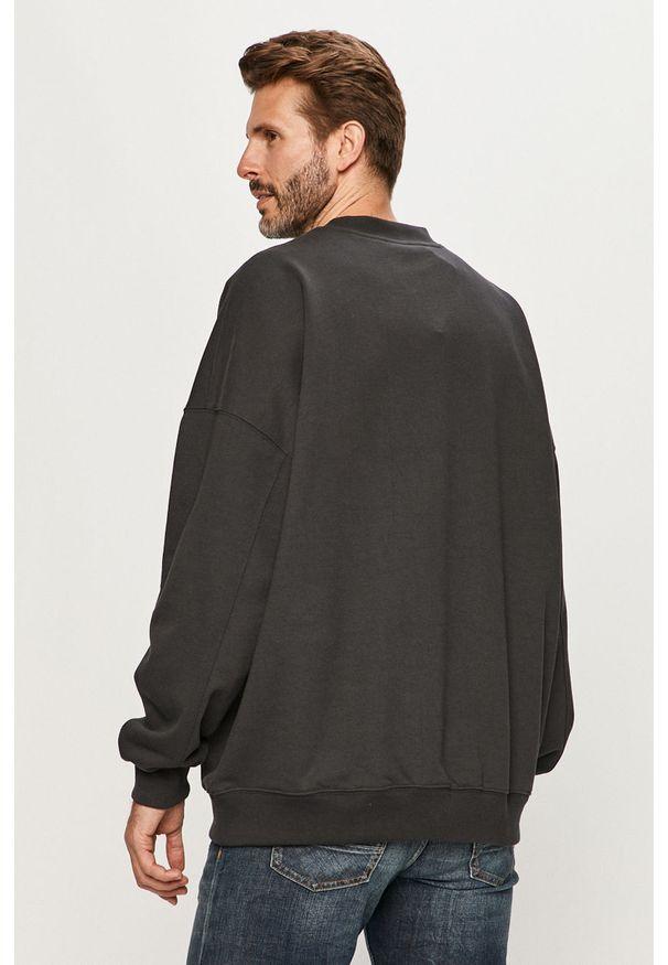 Szara bluza nierozpinana Dr. Denim z aplikacjami, bez kaptura