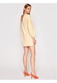 Imperial Sukienka dzianinowa ABRFBCR Żółty Regular Fit. Kolor: żółty. Materiał: dzianina