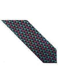 Modini - Ciemnogranatowy krawat w choinki D241. Kolor: niebieski. Materiał: tkanina, mikrofibra. Styl: wizytowy