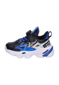 American Club - Sportowe buty dziecięce AMERICAN BD04/21 RY. Kolor: czarny. Materiał: skóra