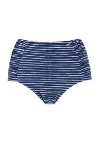 Cellbes Wysokie majtki od bikini w paski niebieski w paski female niebieski/ze wzorem 60. Stan: podwyższony. Kolor: niebieski. Wzór: paski
