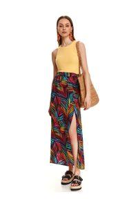 DRYWASH - Spódnica maxi w kolorowe wzory. Okazja: na co dzień. Materiał: materiał. Długość: długie. Wzór: kolorowy. Sezon: lato. Styl: wakacyjny, casual #3