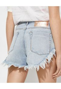 ONETEASPOON - Jeansowe szorty Rollers Low Waist. Stan: obniżony. Kolor: niebieski. Materiał: jeans. Długość: długie. Wzór: aplikacja. Sezon: lato. Styl: klasyczny, rockowy