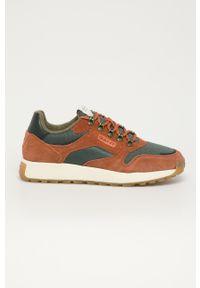 Pomarańczowe sneakersy GANT z cholewką, na sznurówki