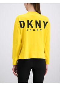 Żółta bluza DKNY Sport sportowa