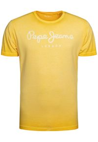Żółty t-shirt Pepe Jeans