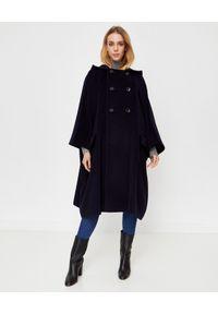 COMME des GARCONS - COMME DES GARCONS - Dwurzędowy płaszcz oversize. Kolor: niebieski. Materiał: wełna. Długość: długie. Styl: elegancki