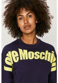 Niebieska bluza Love Moschino casualowa, z długim rękawem
