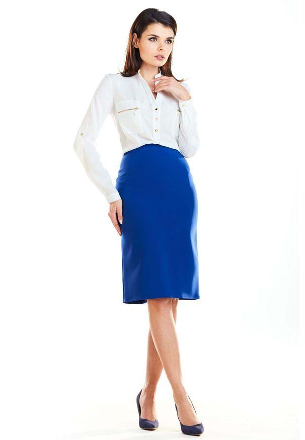 Niebieska spódnica ołówkowa Awama