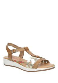 Beżowe sandały Marila casualowe, na lato, na co dzień