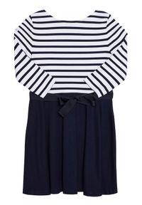 Polo Ralph Lauren Sukienka codzienna Stripe Solid 312720091001 Granatowy Regular Fit. Okazja: na co dzień. Typ kołnierza: polo. Kolor: niebieski. Typ sukienki: proste. Styl: casual