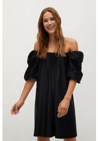 Czarna sukienka mango casualowa, prosta
