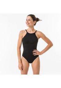 OLAIAN - Kostium kąpielowy jednoczęściowy ANDREA damski. Kolor: czarny. Materiał: poliester, poliamid, materiał, elastan