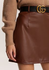 Brązowa spódnica mini Renee