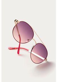 Różowe okulary przeciwsłoneczne Guess gładkie