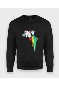 MegaKoszulki - Bluza klasyczna Rainbow Vomit. Styl: klasyczny