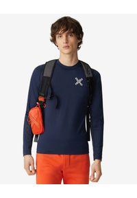 Kenzo - KENZO - Koszulka z długim rękawem slim-fit Sport. Kolor: niebieski. Materiał: materiał. Długość rękawa: długi rękaw. Długość: długie. Wzór: aplikacja, nadruk. Styl: sportowy