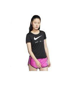 Koszulka damska do biegania Nike CJ1970. Materiał: materiał, tkanina, poliester. Długość rękawa: krótki rękaw. Technologia: Dri-Fit (Nike). Długość: krótkie. Sport: bieganie