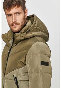 Zielona kurtka Tom Tailor Denim na co dzień, z kapturem, casualowa