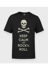 MegaKoszulki - Koszulka męska Keep Calm and Rock n Roll. Materiał: bawełna. Styl: rockowy