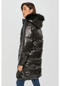 Czarna kurtka Answear Lab z kapturem, raglanowy rękaw, wakacyjna