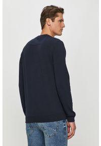 Niebieska bluza nierozpinana Guess casualowa, bez kaptura, z nadrukiem, na co dzień