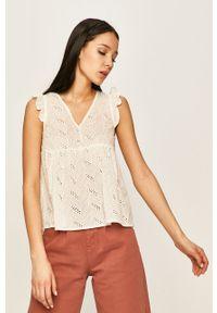 Biała bluzka ANSWEAR casualowa, na ramiączkach