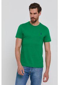 Polo Ralph Lauren - T-shirt. Okazja: na co dzień. Typ kołnierza: polo. Kolor: zielony. Materiał: dzianina. Wzór: gładki. Styl: casual
