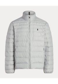 Ralph Lauren - RALPH LAUREN - Szara kurtka kompaktowa. Typ kołnierza: polo. Kolor: szary #3