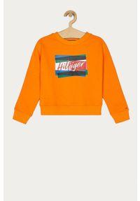 Pomarańczowa bluza TOMMY HILFIGER bez kaptura, casualowa, na co dzień