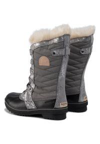 sorel - Śniegowce SOREL - Youth Tofino II NY2325 Quarry/Natural Tan 052. Kolor: szary. Materiał: skóra, guma, materiał. Szerokość cholewki: normalna. Wzór: aplikacja. Sezon: zima