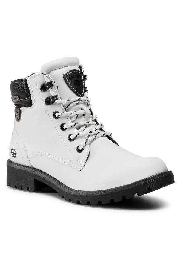 Białe buty trekkingowe Dockers