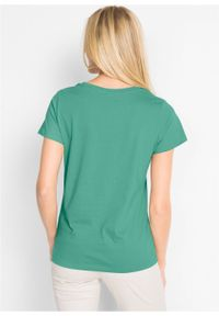 Shirt z okrągłym dekoltem (5 szt.), krótki rękaw bonprix jasna limonka + zielony szałwiowy + kobaltowy + jasnoszary melanż + czarny. Kolor: żółty. Materiał: jersey. Długość rękawa: krótki rękaw. Długość: krótkie. Wzór: melanż #4