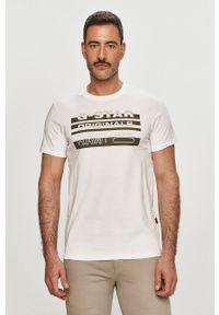 G-Star RAW - G-Star Raw - T-shirt. Okazja: na co dzień. Kolor: biały. Wzór: nadruk. Styl: casual